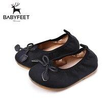 Babyfeet 2017 New Fashion First Walker Baby Girl Princess Popular Soft Non Skip Tendon Bottom Shoe Bow Decoration Spring/Autumn