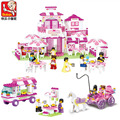 Amigos Romântico Castelo Da Princesa palácio Sluban Conjuntos de Blocos de Construção de Brinquedos Educativos meninas DIY Tijolo Brinquedos para Crianças Presentes de Natal
