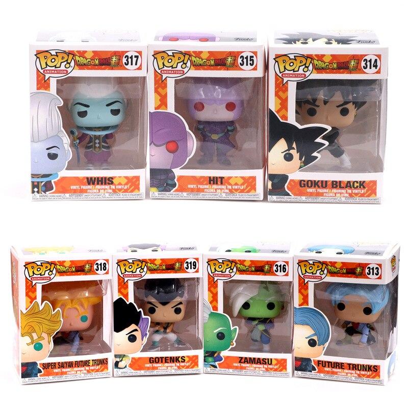 Funko pop Amin Dragon Ball SUPER SAIYAN GOTENKS GOKU Vinyl Action Figure Sammeln Modell Spielzeug für kinder geburtstag geschenk