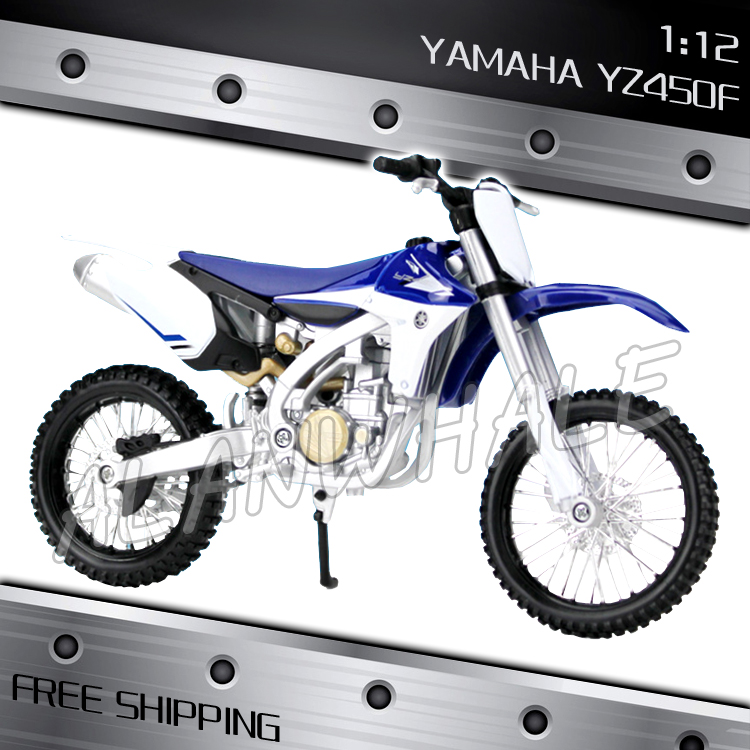 1:12 Scale New Yamaha YZ450F Metal Diecast Model Motorcycle ...
