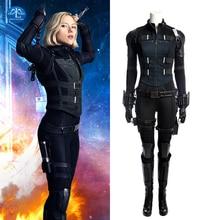 Manluyunxiao Black Widow Cosplay Halloween Costumes For Women Adult Marvel Movie Avengers Infinity War Natasha Romanoff Outfit цена 2017