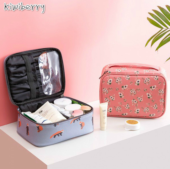 Image 1 - New Pattern INS Network Red Makeup Package Portable With One Accept Package Korea Concise Girl Centralization (052)-in Makeup Organizers from Home & Garden