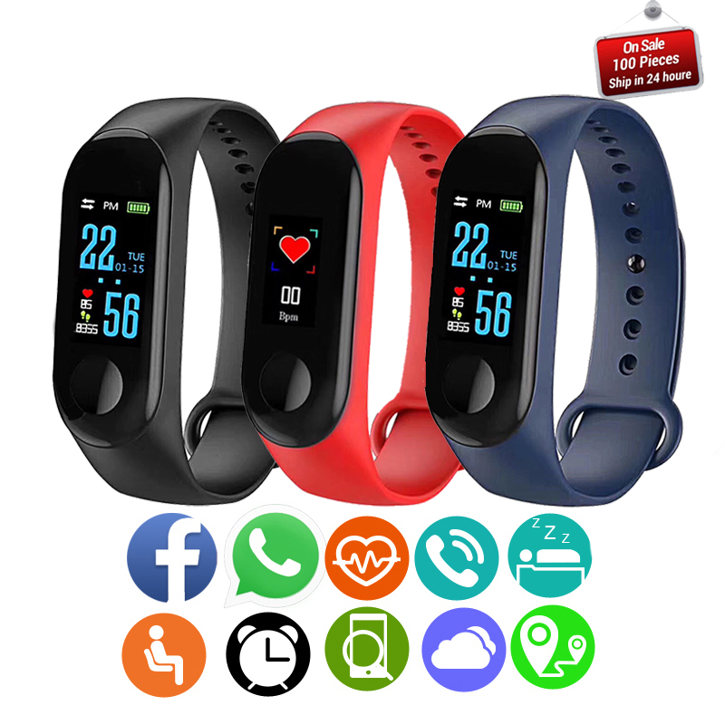 2018 New Smart Bracelet Wrist Watch Men Heart Rate Monitor Blood Pressure Fitness Tracker Smart Band Sport Watch for IOS Android