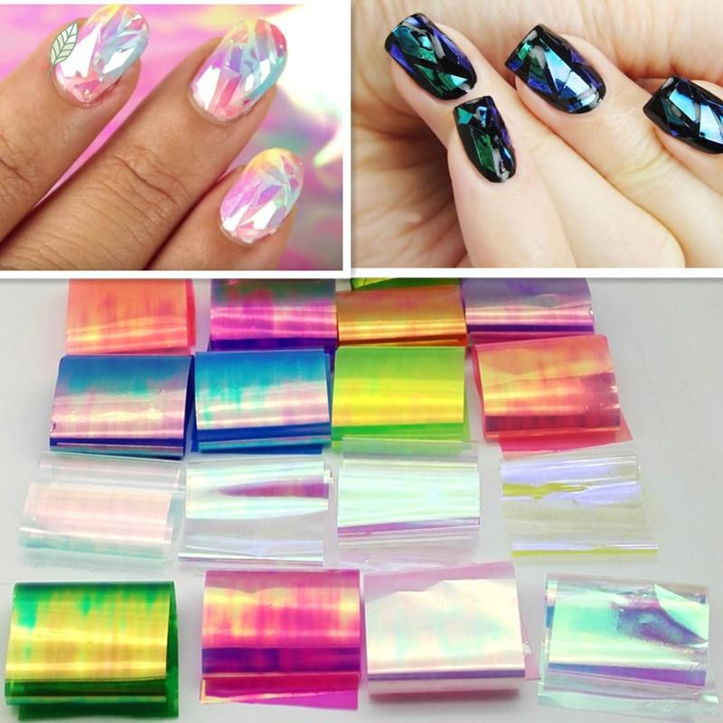 100CM*5CM Shattered Glass Nails DIY Nail Foil Transfer Sticker ...