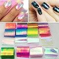 2017new galaxy glass decoración de uñas de arte de transferencia adhesivo de papel de papel consejos decal wrap suave (18 colores)
