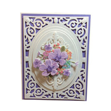 Eastshape Lace Border Dies Frame Filigree Delight Metal Cutting for Scrapbooking Embossing Stencil New Decorative Card