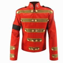 Редкий МД Майкл Джексон красный военный Ретро английская куртка ручной работы