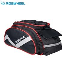 Roswheel Bicycle Bag Multifunction 13L Bike Tail Rear Bag Saddle Cycling Bicicleta Basket Rack Trunk Bag Shoulder Handbag цена