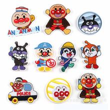 Anpanman Cartoon Iron On Embroidered Clothes Patches For Clothing Stickers Garment Wholesale(China)