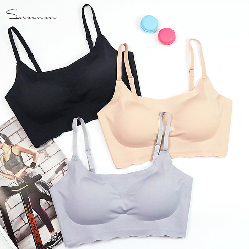 3d538af7d551e Sleep Soft 2019 Sports bra sport Spandex lingerie seamless free breathable  push up bra breasts Free