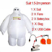 Inflatable Baymax Costume Big Hero Minion Anime Cosplay Halloween Baymax Costume For Kids Women Men Adult Pikachu Mascot Costume цена 2017