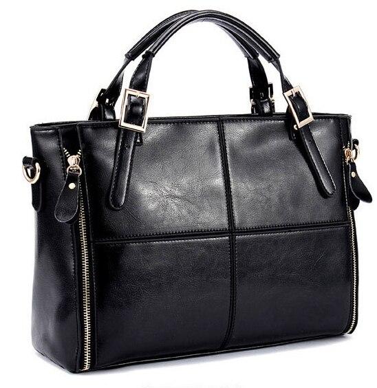 women leather bags women handbag fashion famous brand patchwork ladies tote shoulder bags 2017