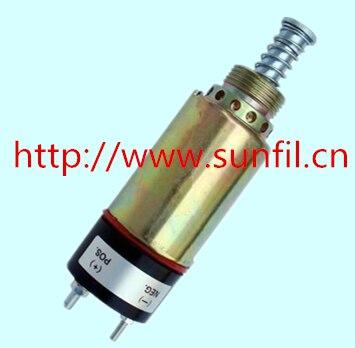 Wholesale Stop Solenoid Valve DC 125-5772,7C-9458 for  (2 terminals),24V fuel shutdown stop solenoid valve 12v dc 125 5771 9x 5312 for cat 2 terminals