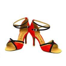 YOVE Dance Shoe Satin Women's Latin/ Salsa Dance Shoes 3.5″ Slim High Heel More Color w123-14