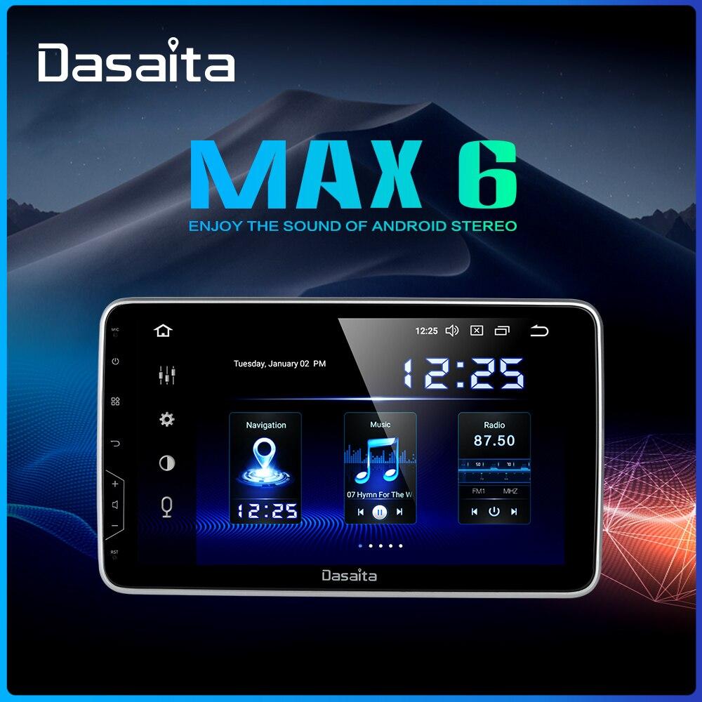 "Dasaita 10,2 ""IPS Bildschirm Auto Radio 2 Din Android 9.0 DSP Universal Auto Auto Stereo Multimedia Bluetooth GPS Navigation HDMI MAX6"