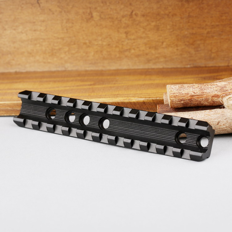 Tactische 120mm 11 slots fit 20mm Picatinny Weaver Riser Rail Base - Jacht - Foto 4