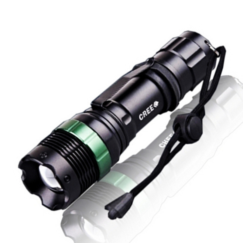 High Quality Zoomable 3 Modes LED Flashlight Torch Light Waterproof Bike Light Strong Lu ...
