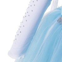 muababy обувь для девочек костюм Эльза синий SN королева платье принцесса с длинным раб хэллоуин Рождественский для полива Blast косплей фантазия