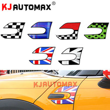KJAUTOMAX 2pcs Car Styling For Mini Cooper Car Fender Section Side Scuttles Stickers Decal Roof F56 Countryman Accessories JCW