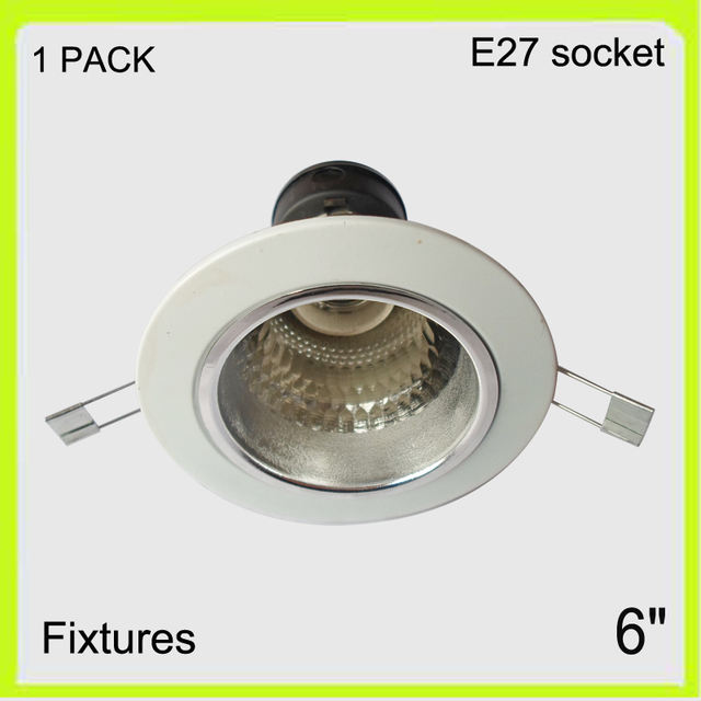 1 pack recessed mounted 6 led down light shade round aluminum 1 pack recessed mounted 6 led down light shade round aluminum fixture reflector mozeypictures Images