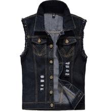 Rompi Denim Pria Tanpa Lengan Jaket Fashion Dicuci Jeans Rompi untuk Pria  Tank Top Cowboy Pria Ripped Jaket Plus Ukuran 6XL 40430892ce