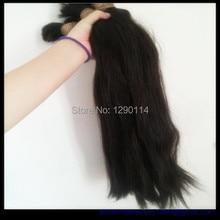 214 recién llegado de! naturaleza bulto del pelo malasio de 12 ~ 32 pulgadas y natural del pelo y pelo brasileño