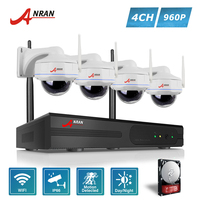 ANRAN Plug And Play P2P Wireless 4CH 960P NVR 30 IR Outdoor Dome Day Night 1