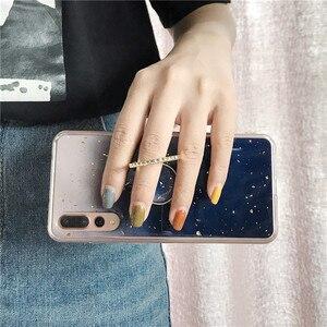 блеск Мрамор чехол для samsung Galaxy S10 плюс S10e S9 Note 8 9 A9 A7 2018 крышка на силиконовый накладка из мягкого с кольцом-подставкой