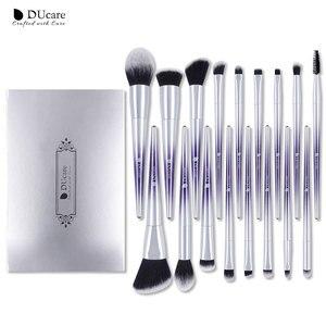 Image 2 - Ducare 17 pçs pincéis de maquiagem conjunto fundação pó sombra sobrancelha escovas para maquiagem kit de ferramentas cosméticos