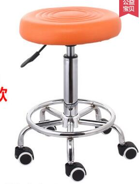 The bar chair.. Hairdressing chair. The back of a chair stool. Rotating lifting chair. the new salon haircut chair chair barber chair children hydraulic lifting chair