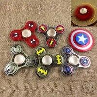 EDC Toys Marvel Triangular Hand Spinner Spider Man Batman Metal Spinner The Avengers Tri Fidget Spinner