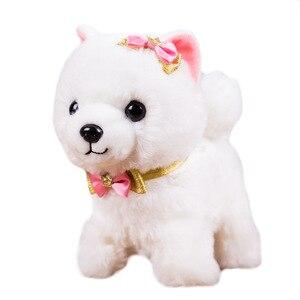 Image 4 - Робот собака со звуковым управлением, интерактивная электронная игрушка для собак, плюшевый щенок, лай, поводок, Тедди, игрушки для детей, подарки на день рождения