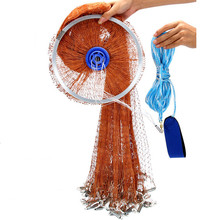 USA style Tire line hand throw net fishing network cast net fish trap fishing net china round net rede de pesca outdoor fishing diameter 240cm 300cm 360cm 420cm usa style cast net hand throw net fish trap fishing network pendant galvanization and lead