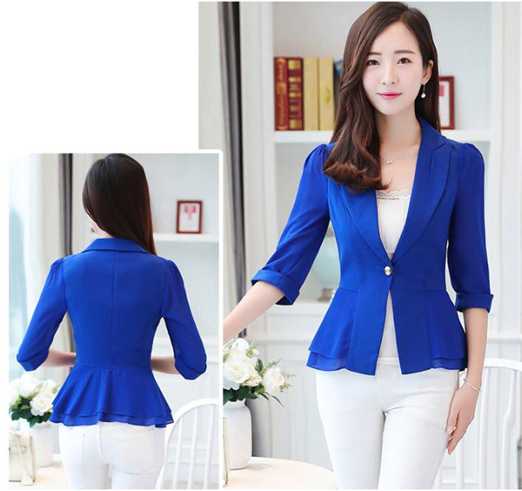 Elegant Female Summer Thin Suits Plus Size 3xl 4xl 4xl Women Office Blazer Blue Orange Slim Fit Breathable Blazer For Work Ma088 Latest Fashion Back To Search Resultswomen's Clothing Blazers