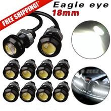 10Pcs Car Motorcycle LED Eagle Eye White Light Fog Lamp