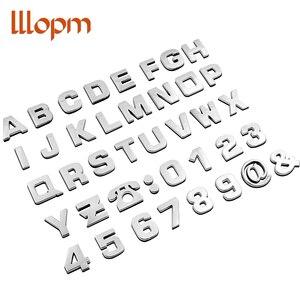 Pegatina 3D del cuerpo del alfabeto inglés del coche para Ssangyong ActYon Tivolan Korando Rodius Rexton 2, pegatina de estilo Kyron Tivoli para coche