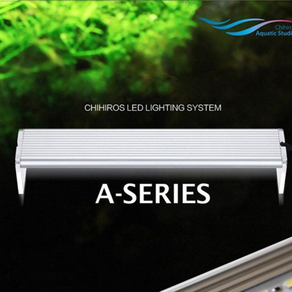 Nicrew chihiros uma série conduziu a luz de iluminação planta de água crescer luz led breve aquário 8000k 1800lm-9700lm aquário conduziu a luz