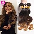 Verdadeira glória cabelo ombre brasileira onda do corpo do cabelo brasileiro barato 4 pacotes de onda do corpo 8a brasileiro virgem molhado e ondulado cabelo