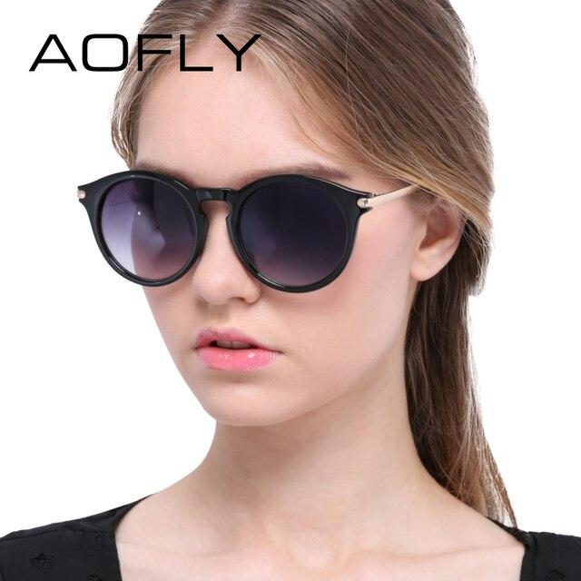 AOFLY Sunglasses Cat Eye Sunglasses Women Round Glasses Metal Legs Retro Sun Glasses Luxury Fashion Eyeglasses oculos feminino