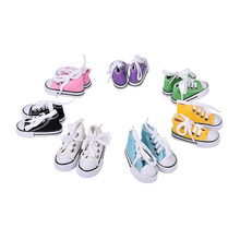 Baby Doll Cool Fashion Canvas Lace Up Sneakers Shoes For 18 inch Girl & Boy Dolls(China)