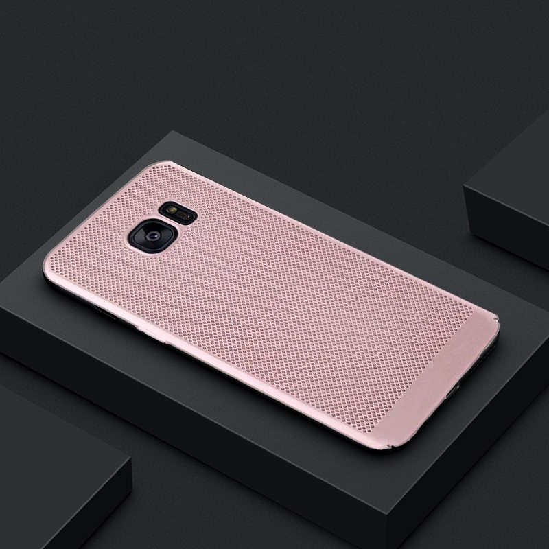 New Heat Dissipation Phone Case Coque For Samsung Galaxy S6 S7 Edge G925F S8 S9 Plus S8+ Note 8 Shell Capa PC Back Matte Cover