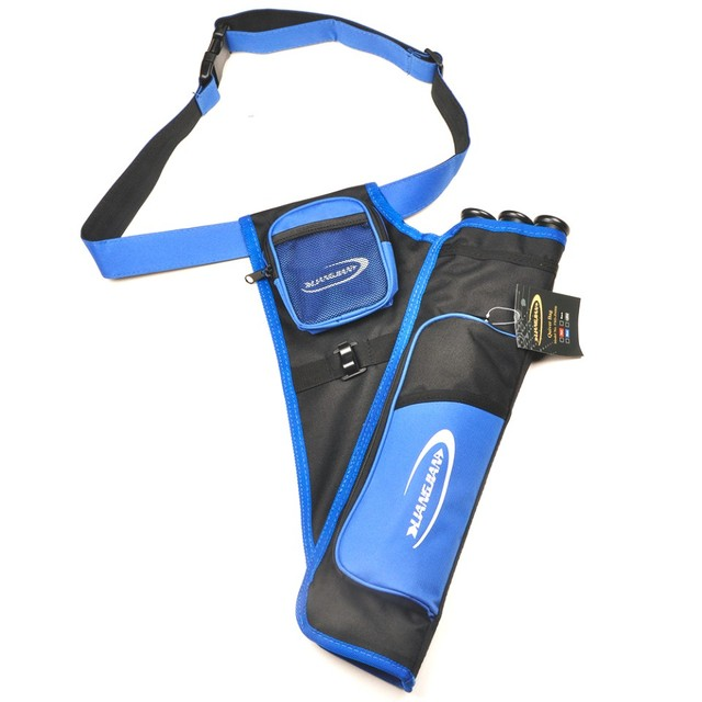 Black/Blue 3 Tubes Arrow Quiver Archery Hunting Arrows Holder Bag Right Handed Arrow Bag