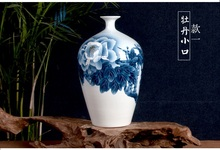Jingdezhen ceramic vase lotus hand-painted household act the role ofing is tasted mesa specials