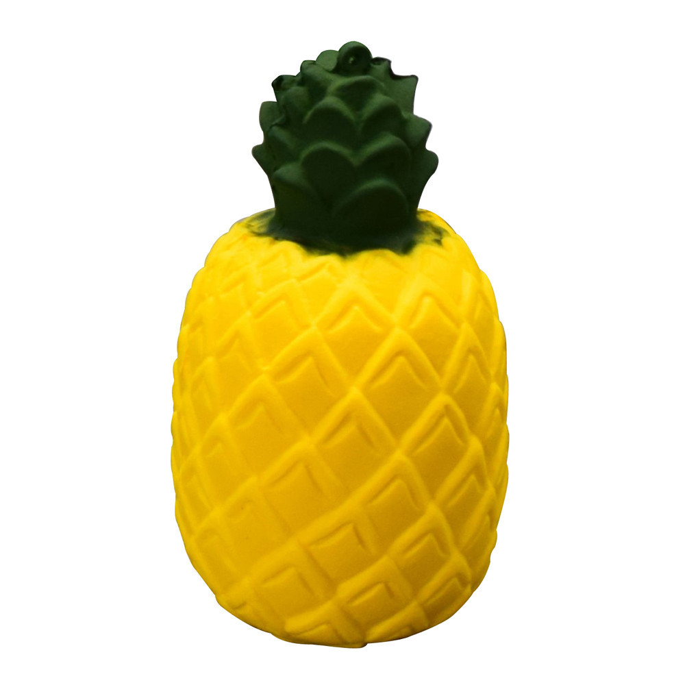 2018 New Squeeze Pineapple Squishy Slow Rising Jumbo Exquisite Scented Fruit Bread Cake Stress Reliever Kid Fun Toy Phone Straps