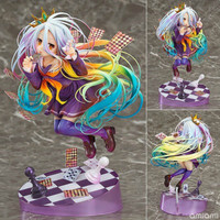 hot NO GAME NO LIFE GAME LIFE White 3 Generation Poker 1/8 Action Toy Figures Japanese Anime Figure Collectible Figurines gift