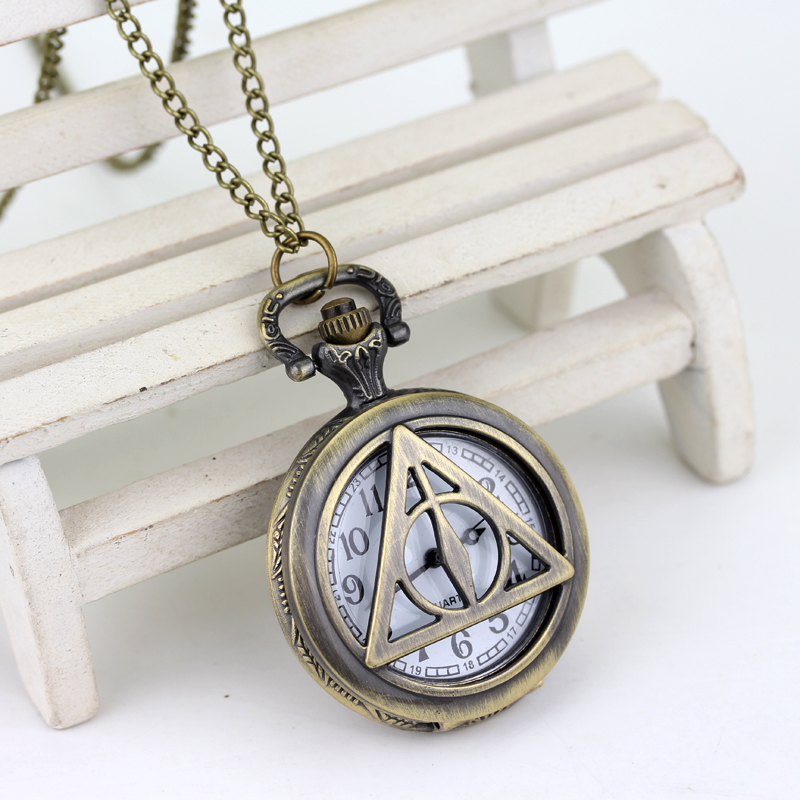 Top Luxury Smooth Golden Snitch Ball Quartz Pocket Watch  Deathly Hallows Antique Pocket Watch Necklace