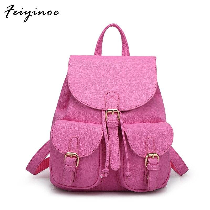 Women backpack PU leather backpack women bag high quality bag high quality pu leather women backpack