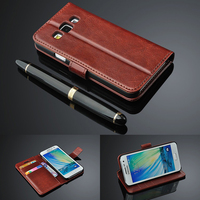 For Samsung Galaxy A7 A5 A3 2016 Flip Wallet Genuine Leather Cover For Samsung Galaxy A7
