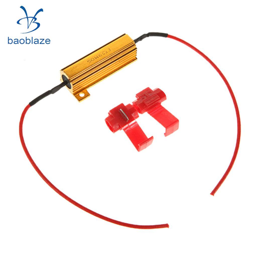 50W 6ohm Load Resistors for Hyper Flash Turn Signal Light Blinker LED Bulb