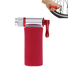 Lightweight Alloy Bike Bicycle Cycling Tire Air CO2 Inflator Pump Head and Insulated Sleeve цена